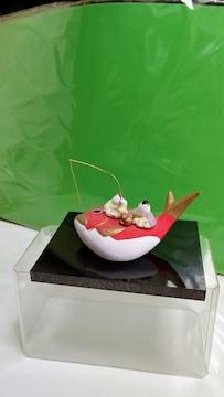 人形と和紙の工房  龍虎作 タイにのるネコ