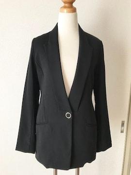 [rienda]★ブラックカラー・長袖ジャケット・サイズ[S]★