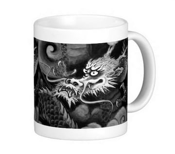 雲龍院、水墨の龍のマグカップ