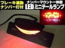 バイク ブレーキ連動 LEDテールランプ ナンバー灯/12Vモンキー