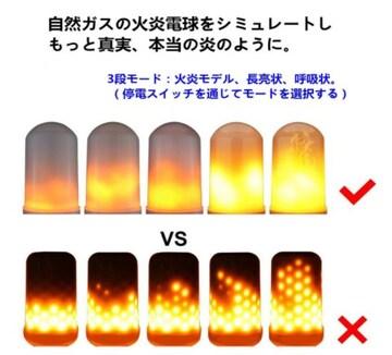 LEDちらつき炎ライト電球