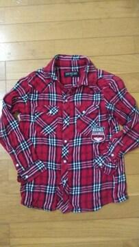 130�p赤チェックシャツ��695