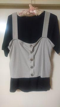 新品タグ付Tシャツ&ビスチェセット4L