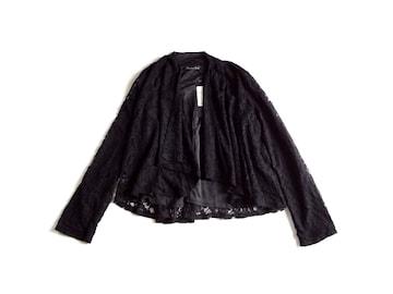 新品 Growing Rich 黒レース 羽織り ジャケット