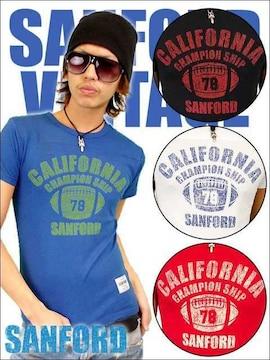 SANFORD(サンフォード)フットボールTシャツ/青L アメカジ系