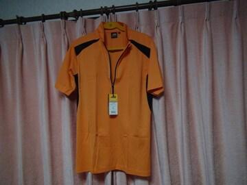 ASのポロシャツ(LL)オレンジ&ブラック新品タグ付き袋入り!