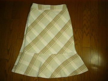 ★キャサリンロス 裾ひらキュートなウールデザインスカート★