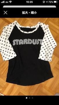 LUCY/ルーシー☆袖が星柄 7分袖Tシャツ