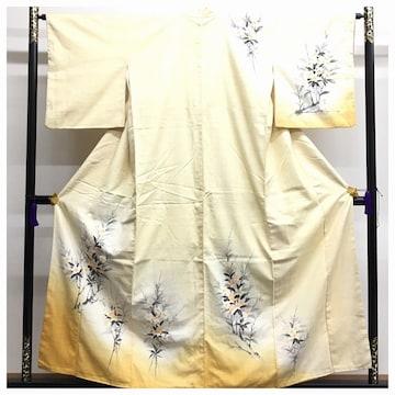 高級呉服 真綿紬 訪問着 身丈155 裄65 極上 正絹 紬 袷 中古品