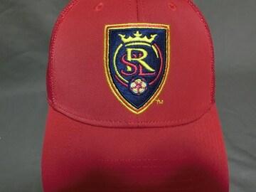 adidas製【MLS】レアル ソルトレイク ロゴ刺繍メッシュCAP