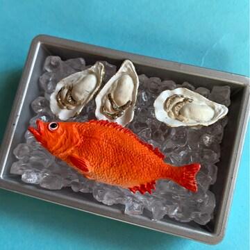 ミニチュア食器 牡蠣と魚