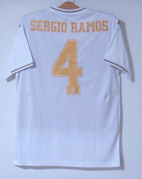 新品☆セルヒオ・ラモス☆レアル☆白M4番半袖☆スペイン代表