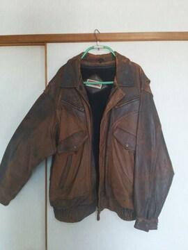 トーベル製 オールドファッション革ジャン  LLsize