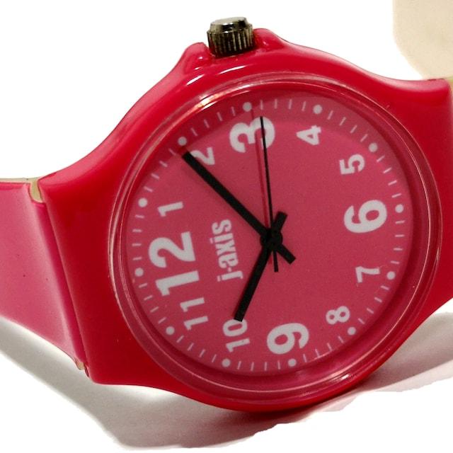 良品【980円〜】J-AXIS【JAPANムーブメント】ユニセックス腕時計 < 男性アクセサリー/時計の
