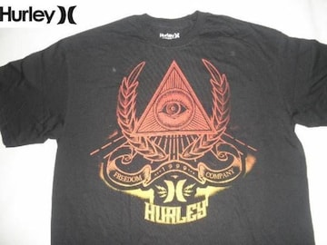 USA購入 ハーレー【Hurley】Classic Fit LOGOプリントT US L BLK