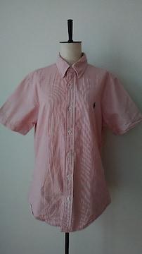 ラルフローレン☆白×赤☆半袖シャツ