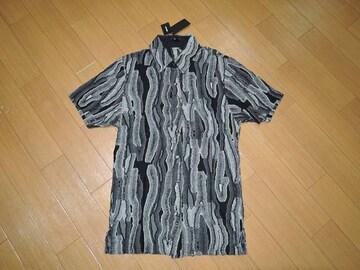 新品シェラックSHELLAC半袖シャツ44黒定価半額以下