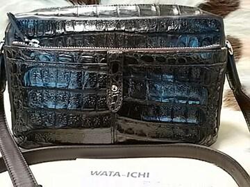 最高級品★WATA-ICHI クロコダイルカイマンショルダーバッグ