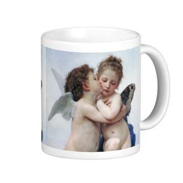 ウィリアム・ブグロー『ファースト・キス』のマグカップ