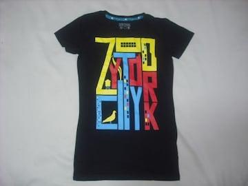 wr485 女 ZOO YORK ズーヨーク 黒 半袖Tシャツ Sサイズ ★