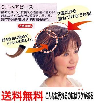 人毛100%総手植え軽い 盛り髪に使える!ミニピース