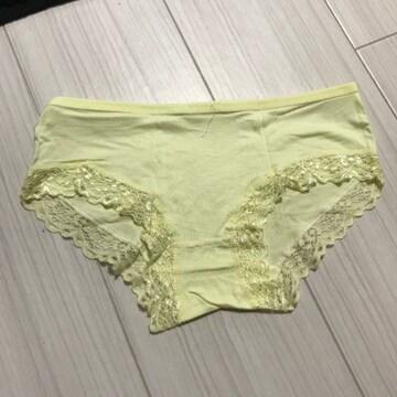 パンツ ショーツ レディース Mサイズ フルバック イエロー 黄色