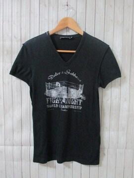 ☆DOLCE&GABBANA/ドルチェアンドガッバーナ 半袖 Vネック Tシャツ/メンズ/44(S)