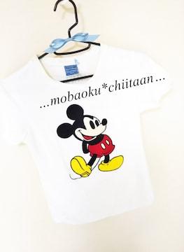 。*・◆ミッキーワッペン〃Tシャツ〃ホワイトカラー◆・*。