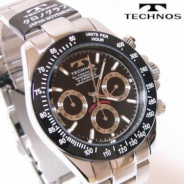 TECHNOS テクノス クロノグラフ腕時計 多機能ウォッチ TSM401TB