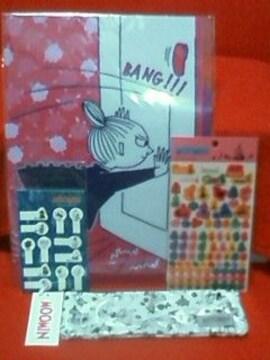 ☆ムーミン☆ミイ☆ポケットファイル/ペンケース/ミニ付箋/スケジュールシール☆4点セット☆