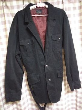 ★bareback/realdress オシャレデザイン ロングコート サイズ4L 大きめ 黒★