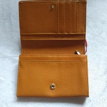 オレンジ系 2つ折財布 美品