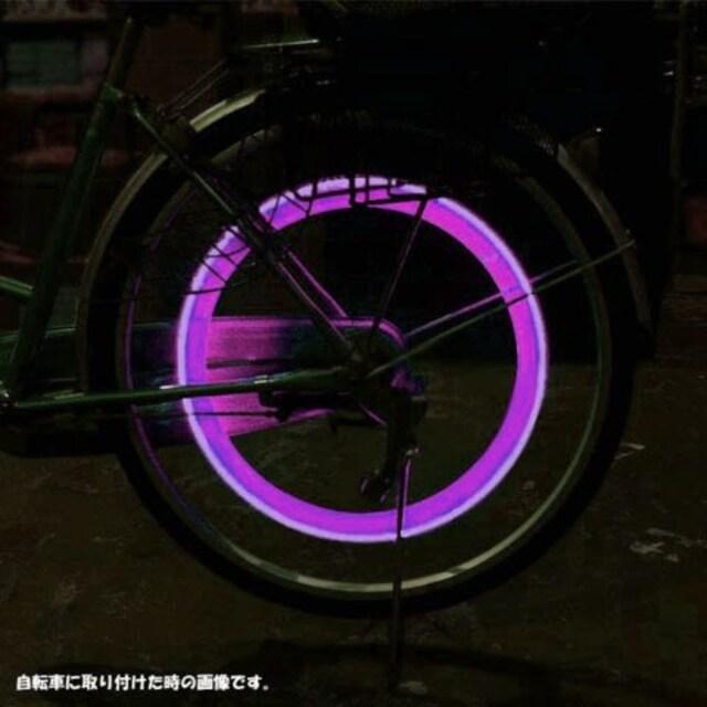 LEDホイールフラッシュ☆パープル☆4個1セット < 自動車/バイク