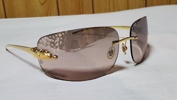 正規限定 カルティエ パンサーメタルサングラス 茶×金×豹柄 パンテール レオパード