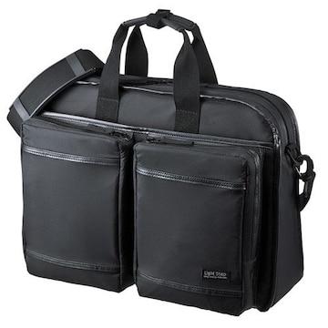 ビジネスバッグ PC対応 超撥水 軽量 ブラック/E