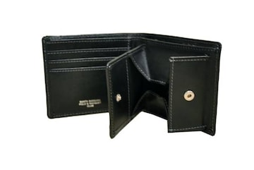 新品★ボックス型小銭入付二ッ折財布★SB9063 ブラック(税込)