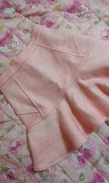 神戸レタスミニスカートピンク色