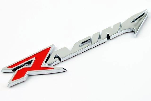 レーシングRACINGエンブレムスラントタイプ色選択 < 自動車/バイク