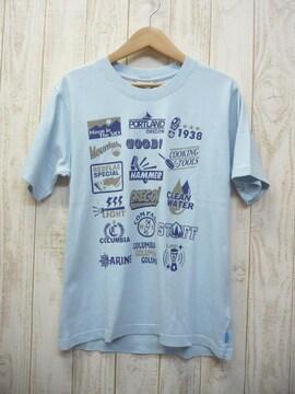 即決☆コロンビア 特価 プリントTシャツ BLU/XL UVケア 新品