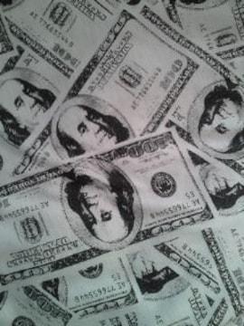 アメリカ 100ドル札 全面 プリント デザイン Tシャツ Lサイズ ホワイト