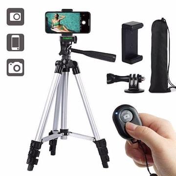 スマホ用三脚 ビデオカメラ三