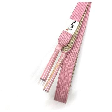 未使用 美品 普段使い 和装小物 正絹 帯締め(ピンク)金