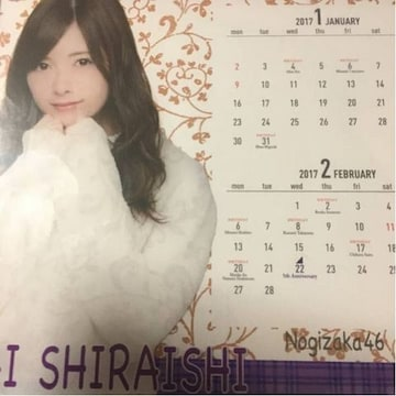 即決 公式 乃木坂46 2017年度 個別卓上カレンダー 白石麻衣 新品