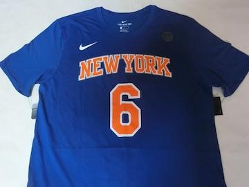 Nike製【DRI FIT】NY KNICKS ポルジンギス ナンバーTシャツUS XL