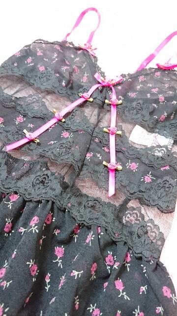 ☆.。.*PJ ピーチジョン マリニ 透けバラ 薔薇 小花柄ベビードール*.。.☆ < 女性ファッションの