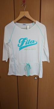新品未使用タグなし☆FILAホワイトスポーツ用カットソー☆大きいサイズLLサイズ