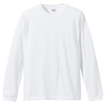 5.6オンス ロングスリーブTシャツ(1.6インチリブ)ホワイト M