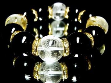 オラオラ系ブレスレット!!四神獣×ブラックオニキス18ミリMIX数珠!!!