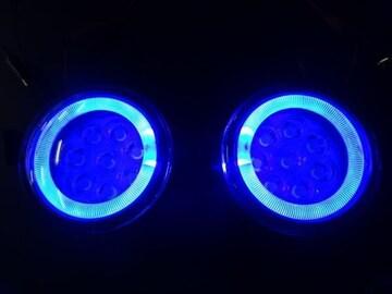 日産 LEDイカリングフォグランプ 青2個 セレナエルグランドエクストレイルジュークキューブ