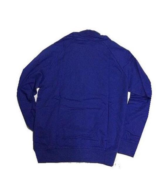 セール新品UNKUTアンカット★ロイヤルブルー★ロゴ柄パーカー★ストリートXL < 男性ファッションの